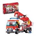 Fuego Lucha Bloques de Construcción Educativa Compatible con Ladrillos de Bomberos Bombero City regalo brinquedo Juguetes del Muchacho