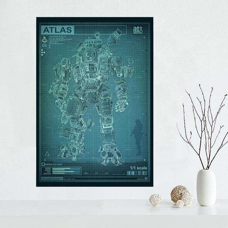Nice Titanfall Titan Fall Game Poster Custom Canvas Poster Art Home Decoration Cloth Fabric Wall Poster Print Silk Fabric