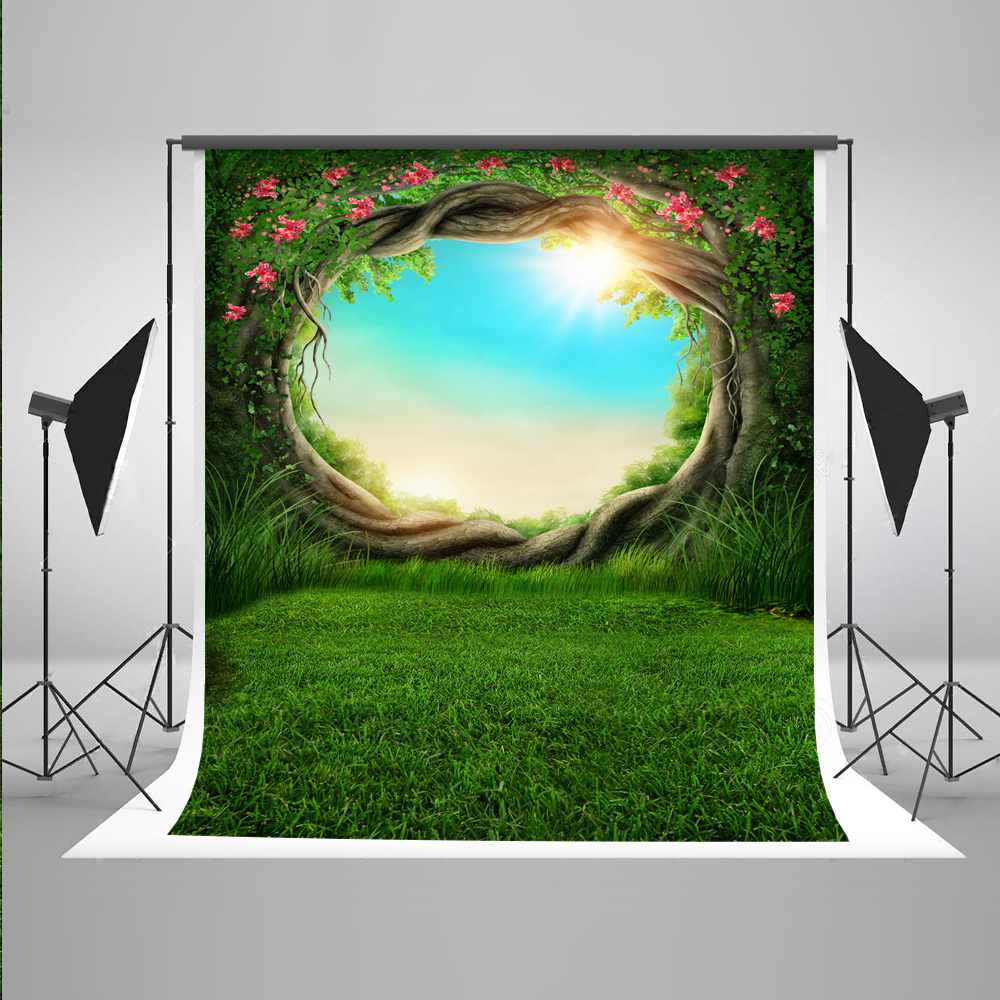 5x7FT Kate Cartoon Green Scenery Photography Backgrounds Spring Muslin Backdrop Children Backgrounds For Photo Studio kate natural scenery backdrop blue sky