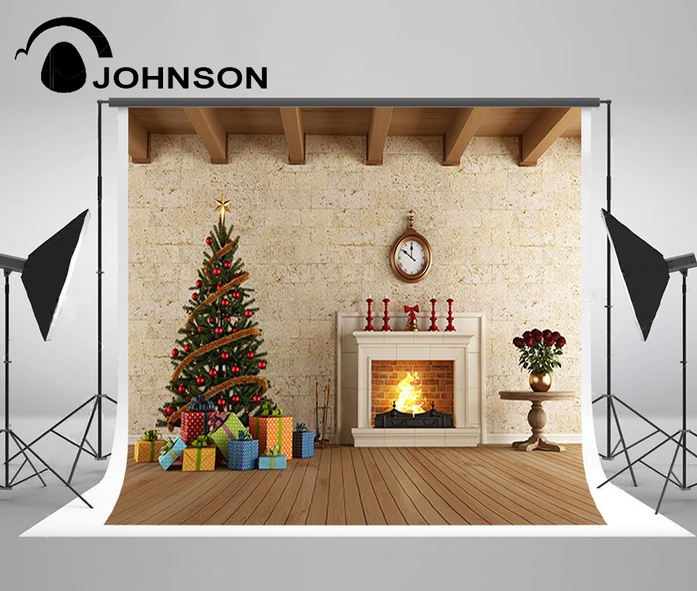 clock decorations fireplace christmas tree wall photography