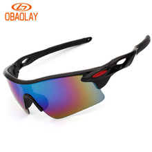 Obaolay Brand New 12 Colors Men Women Sun Glasses Bike Bicycle Eyewear Outdoor Sports Cycling Sunglasses Windproof UV400 Goggles