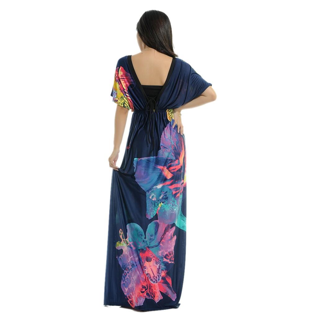Boho Print Maxi Dress 6XL 13