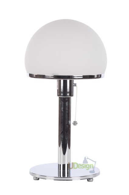 apparecchi di illuminazione di design replica wg a lampada bauhaus wilhelm wagenfeld chrome base. Black Bedroom Furniture Sets. Home Design Ideas