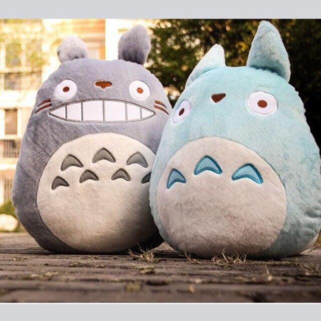 Totoro Plush Soft Stuffed Pillow White Toys