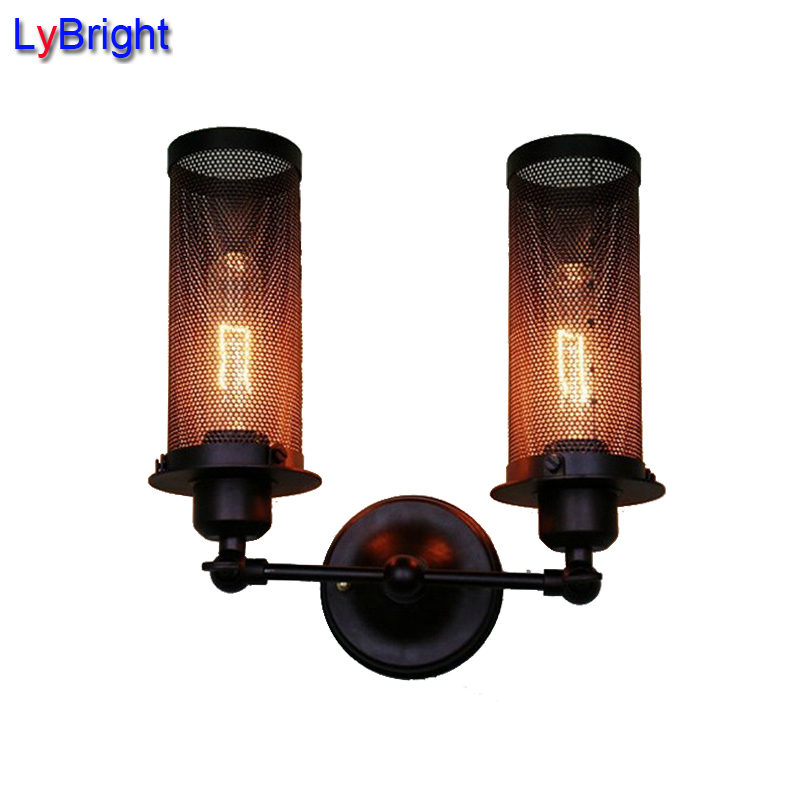 New Personality Industrial Lighting Counter Lamps Vintage Wall Lamp Lights Edison Lamp AC 110-220V modern edison personality industrial lighting counter lamps cage vintage pendant lights pendant lamp edison bulbs ac 110 220v