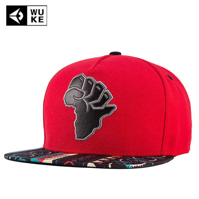 WUKE 2018 Brand Brim Straight Bone Hip Hop Dad Hat Male Female Casual Snapback   Baseball     Cap   Men Embroidery Unisex Hat Adjustable