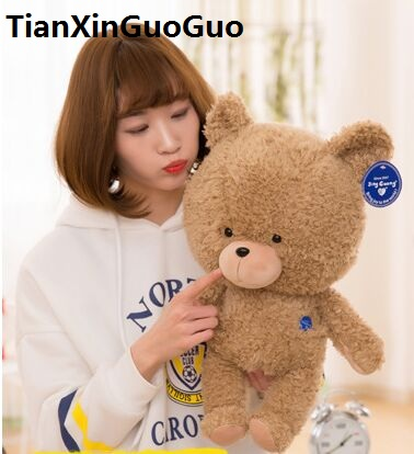 new arrival large 50cm cute brown bear plush toy down cotton teddy bear very soft doll throw pillow birthday gift b0809 large cute plush led panda teddy bear doll new year s gift colorful rainbow flash light children girl toy