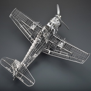 Image 3 - MMZ MODEL Jasmine 3D metal puzzle 1/48 F6F 5 Hell cat fighter Full PE skeleton Assembly aircraft model 3D Laser Cut Jigsaw Toy