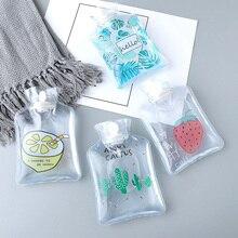 Cartoon Hand Po Warm Water Bottle Cute small Transparent Hot Bottles Mini Portable Warmer Injection Storage Bag