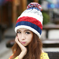 Brand beanie autumn and winter cap ladies knit caps new hair ball marcas wool hat knitted sport ski hats for women