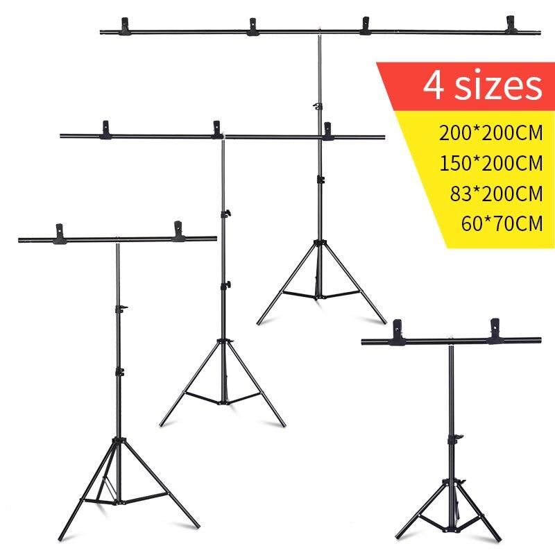 T-förmigen hintergrund rahmen Fotografie Hintergrund Hintergrund Unterstützung Stehen System Metall hintergründe für foto studio Mehrere größen
