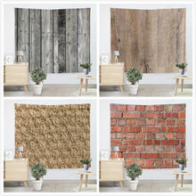 Creative Bricks Lantai Kayu Tapestry Pantai Throw Alas Yoga Permadani Dinding Gantungan Gobelin Livingroom Bedding Rumah Dekor Wandkleed(China)