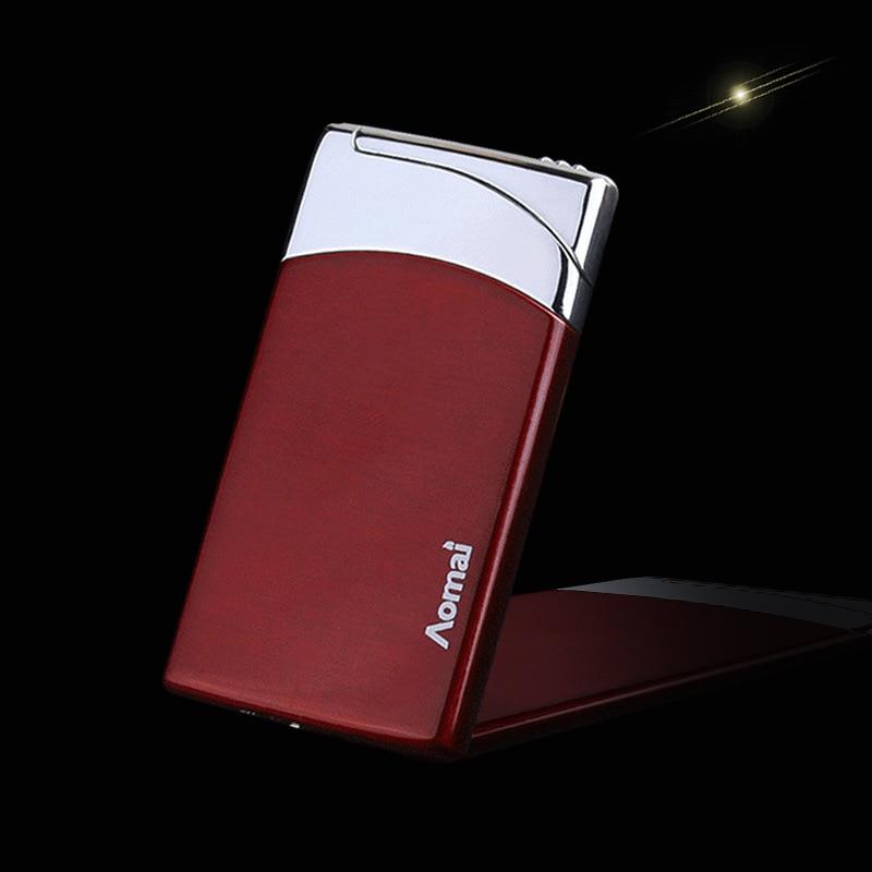 2018 New Compact Jet Lighter Gas Torch Lighter Flat Windproof Metal Cigar Lighter 1300 C Butane Lighter Cigarette Accessories-in Matches from Home & Garden