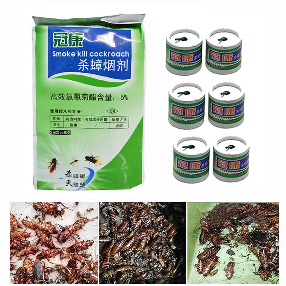 6pcs/Bag Effective Killing Cockroach Bait Powder Cockroach Repeller Insect Roach Killer Anti Pest Reject Trap Pest Control