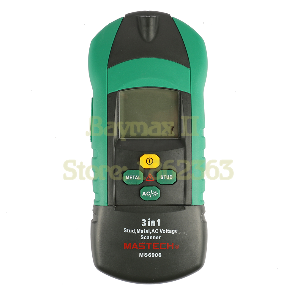 Mastech MS6906 3 in 1 Multi-function Metal,Stud,AC Voltage Scanner Detector with Led Lighting