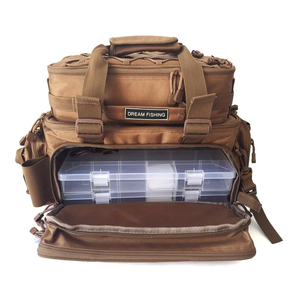 Multifunctional Fishing Backpack Tackle Bag Detachable Combination Lure Backpack Fishing Gear Storage Shoulder HandbagsMultifunctional Fishing Backpack Tackle Bag Detachable Combination Lure Backpack Fishing Gear Storage Shoulder Handbags