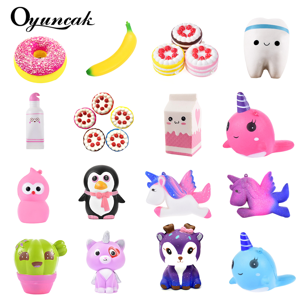 Oyuncak Squishy Novelty Gag Toys Jumbo Fun Squish Antistress Surprise Stress Relief Toys For Children Cute Squeeze Slow Rising 2pcs stress relief world map jumbo ball atlas globe palm ball planet earth ball stress relief slow rising squishies toys