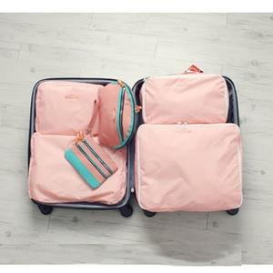 Image 2 - 5PCS/Set High Quality Oxford Cloth Travel Mesh Bag Luggage Organizer Packing Cube Organiser Travel Bags Travel Bags Packing Cube