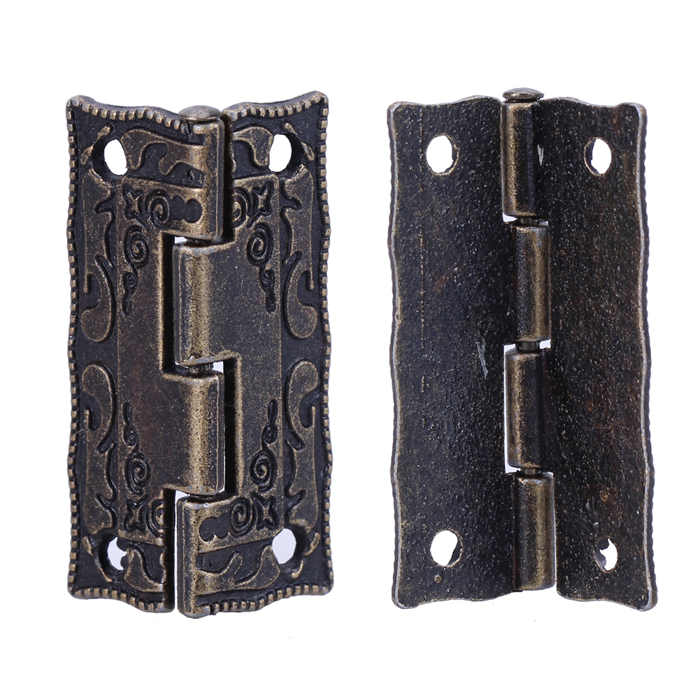 10pcs Cabinet Door Butt Hinges Mini Drawer Bronze Decorative Mini Hinges DIY accessories Small Wooden Box Decoration 10pcs gold mini butterfly door hinges cabinet drawer jewellery box hinge furniture hinge s diy hardware tools mayitr