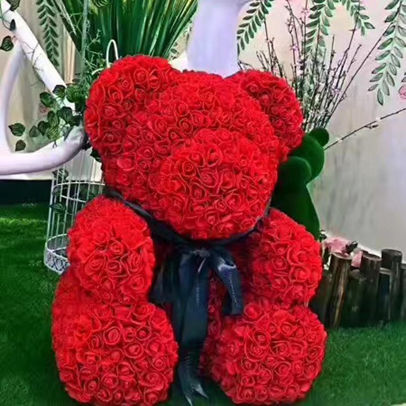 Creative PE  Eternal Flower Diy Rose Bear Valentine's Day Creative Romantic Birthday Gift For Wife Girlfriends