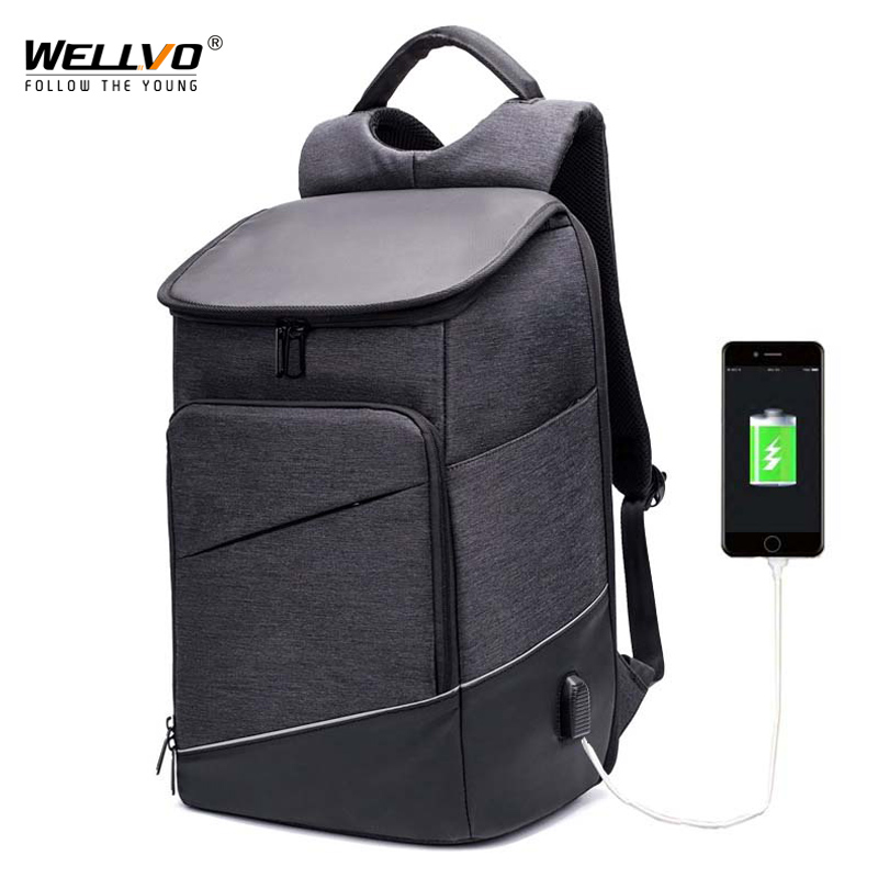 Hot Sale Men Laptop 15 Backpack External USB Charge Swiss Computer Backpacks Anti theft Backpack Waterproof