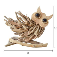 Handmade Wooden Owl Ornaments Decoration Solid Wood Home Decoration Crafts Creative Gifts Furnishing Murals Ornaments Figurines