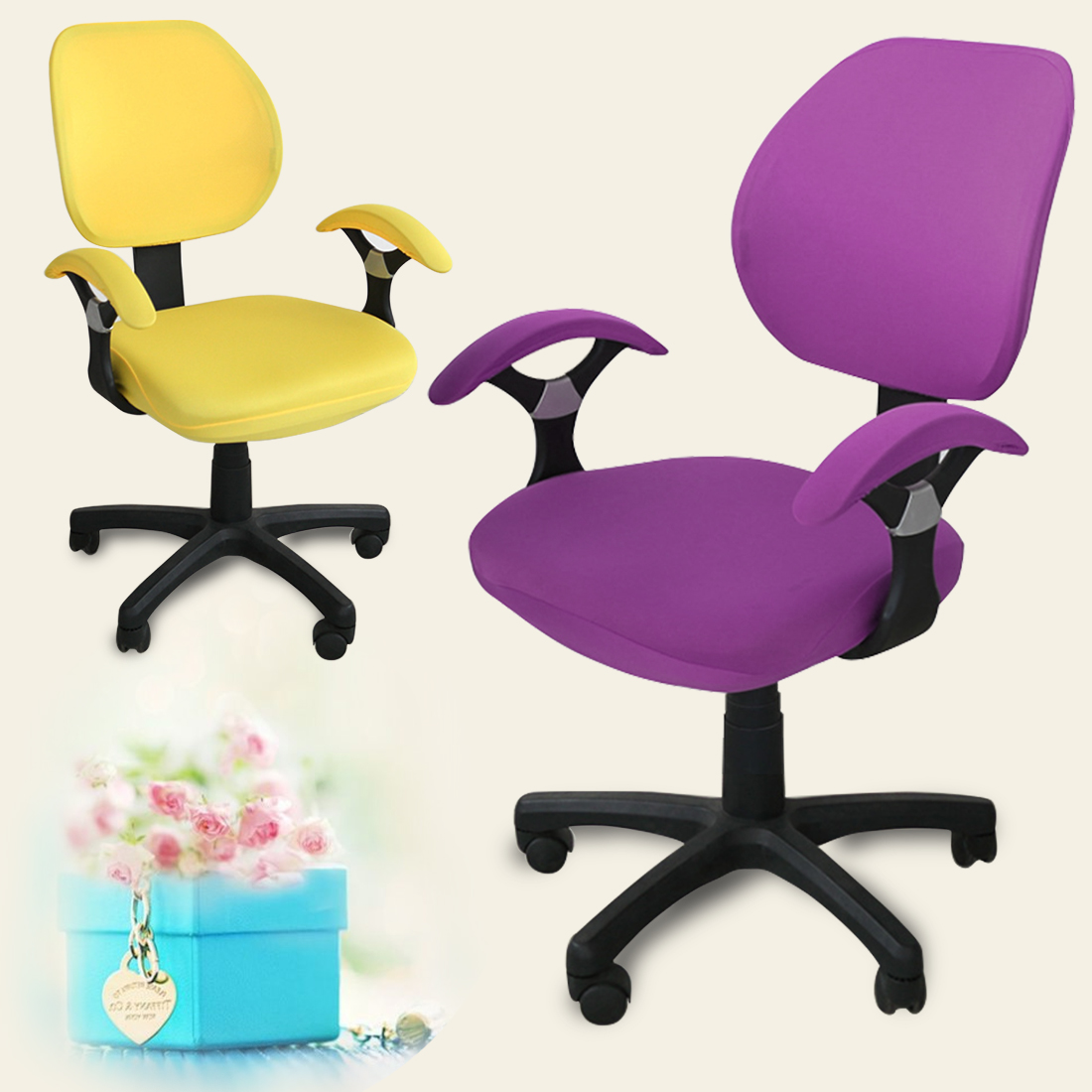 Revolving Chair Supplier School Desk Vintage Aliexpress Buy Spandex Elastic Fabric Seat Covers
