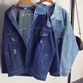 Spring & Autumn New Loose  Bat Sleeve Dames Hole Denim Women Jacket Leisure And fashion Coats