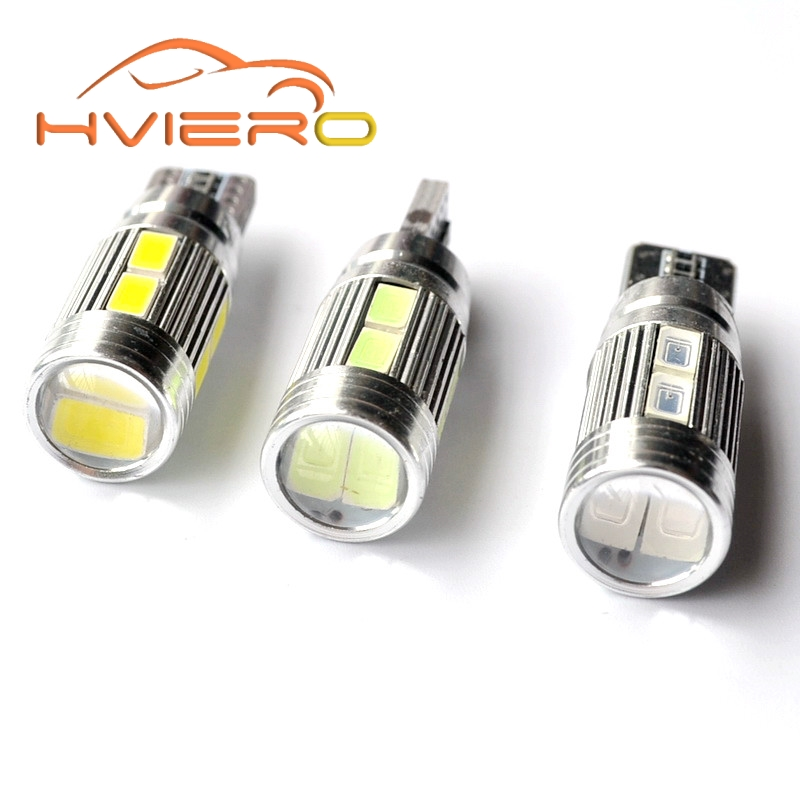 10Pcs T10 W5W 194 192 158 White Blue 10smd 5630 5730 PCB DC 12v Car Auto Parking Light Led W5W Xenon NO OBC ERROR Car Side Bulb flytop 2 x w5w 10smd canbus t10 5630 smd 194 led car bulbs error free can bus auto lights white blue crystal blue yellow red