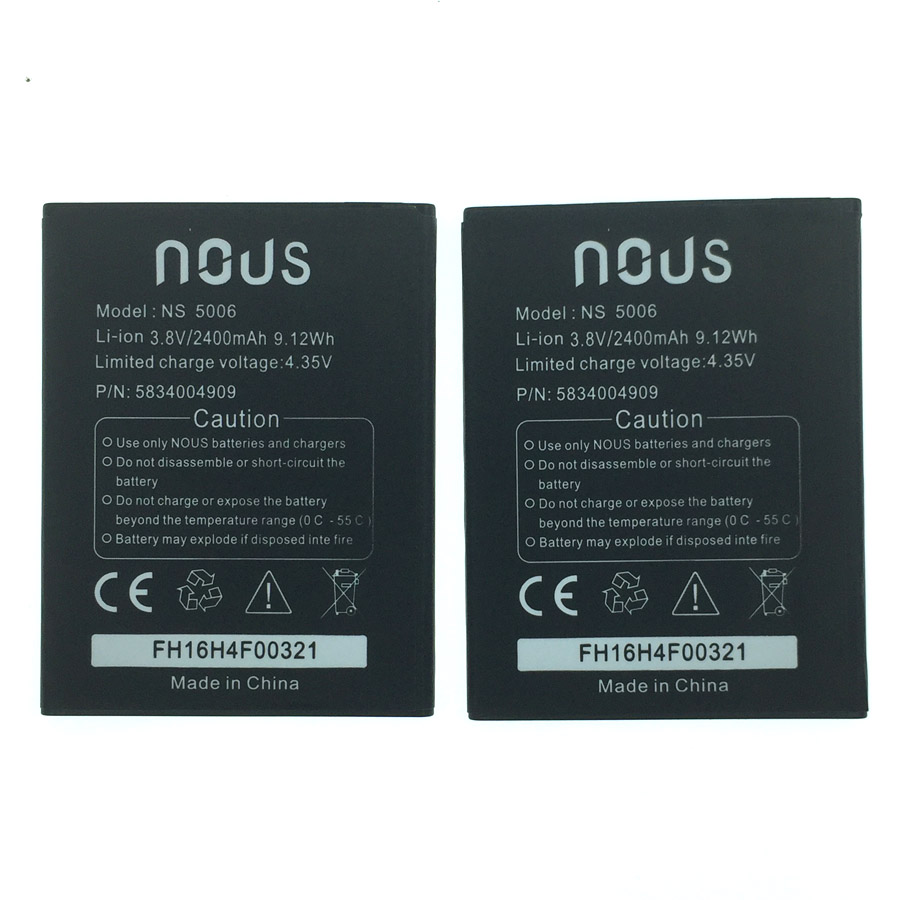 20 pcs In Stock Wisecoco 2400mAh Battery For <font><b>Nous</b></font> NS 5006 <font><b>NS5006</b></font> Smartphone/Smart Mobile phone +Tracking Number image