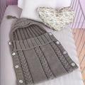 Bebé Saco de dormir Sleepsack Infantil hecho a mano de Punto de Ganchillo Bebé Coccon Sobres Swaddle Bebé Manta de Cama Suave Para Los Recién Nacidos