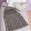 Saco de Dormir Infantil handmade Malha Crochet do bebê Sleepsack Bebê Casulo Do Bebê Dorminhoco Cobertor Macio Swaddle Envelopes Para Recém-nascidos