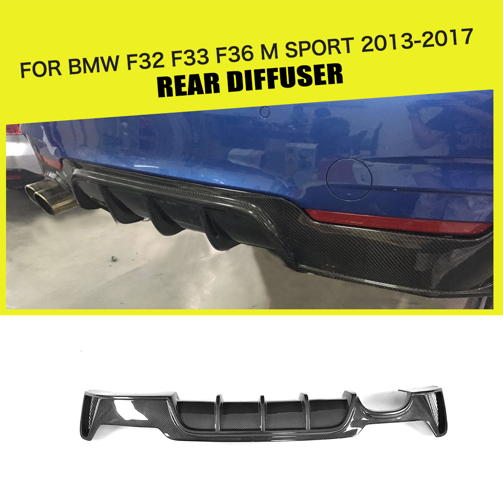 Carbon Fiber / FRP Car Rear Bumper Diffuser Spoiler Lip for BMW 4 Series F32 F33 F36 M Sport 2014 - 2017 Sedan Coupe Convertible carbon fiber auto front lip splitter flags for bmw 4 series f32 f33 435i m sport coupe & convertible 2 door 2014 2016