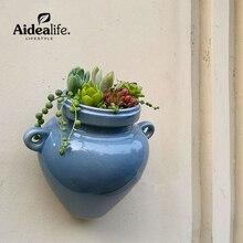 керамические горшки для цветов кашпо стена висеть горшки для суккулентов кашпо растения для сада товары для сада инструменты искусственные растения горшок для бонсай саженцы растений исскуственные цветы