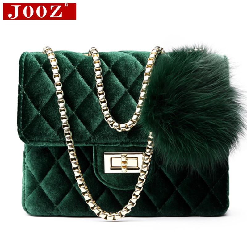2018 Luxury Furball Woman Shoulder Bags Velour Plaid Handbags Famous Brand Women Bags Designer small Mujer Bolsas Messenger Bags