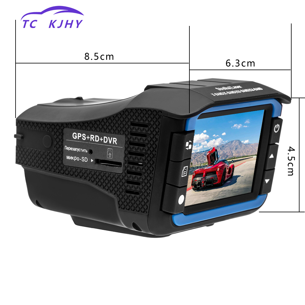 цены 2018 Russian Anti Radar Dash Cam DVR Video Registrator Auto 3 In 1 Dash Cam Car DVR Radar Detector GPS Tracker Driving Recorder