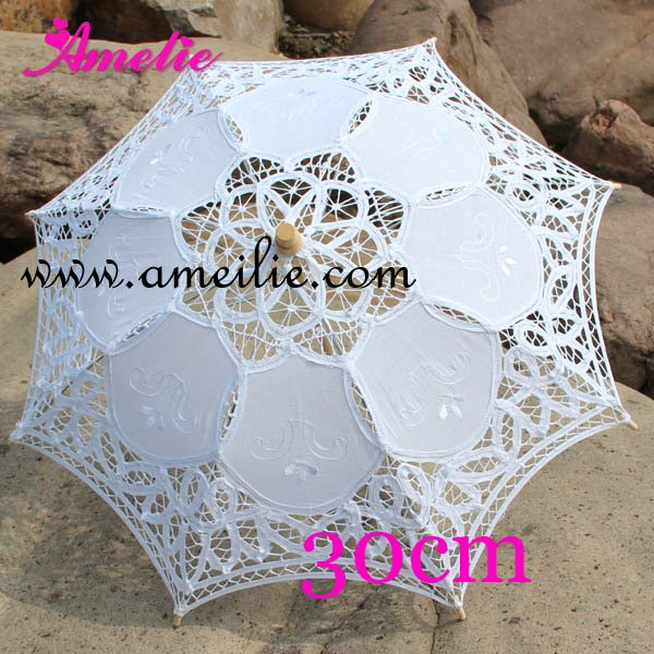 Free Shipping Wedding Decoration 11 8inches Promotion Child Stock Lace Parasols