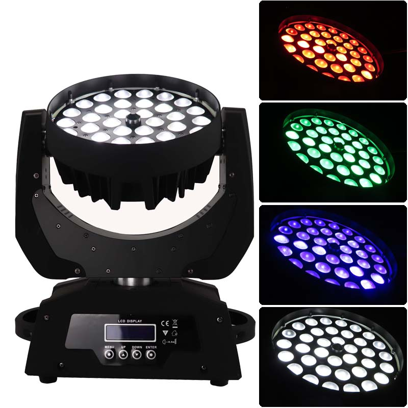 flycase 36*10 zoom led moving head wash wedding equipment disco nightclub color light