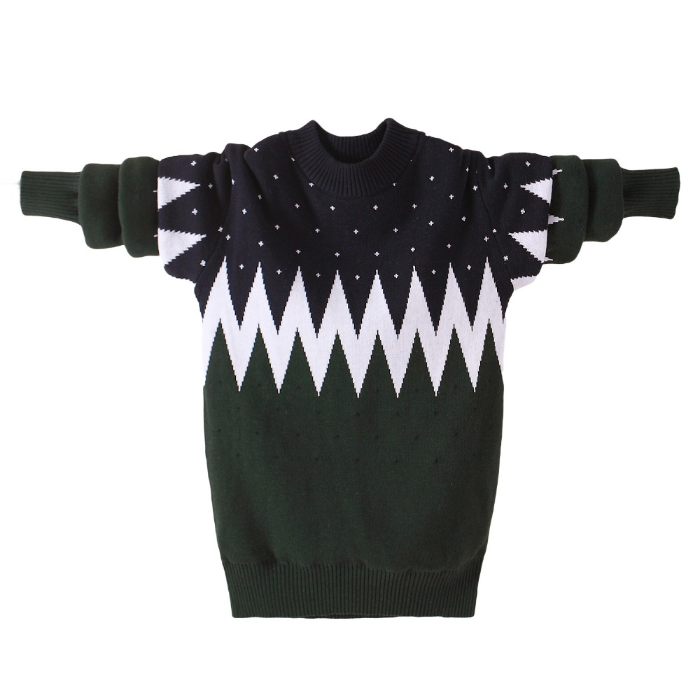 Winter Cotton products  Boys clothing O-Neck pullover Sweater winter Keep warm Kids clothes children's clothing 1