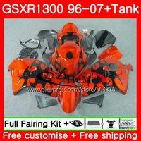 Обтекатели для SUZUKI Hayabusa GSXR1300 96 07 оранжевый Пламя GSXR 1300 96 97 98 99 00 01 42SH9 GSX R1300 1996 1997 1998 1999 2001