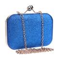 Glitter Chain Clutch Case Box Handbag Evening Bag Lady Women Party Wedding Cute Shoulder Bag