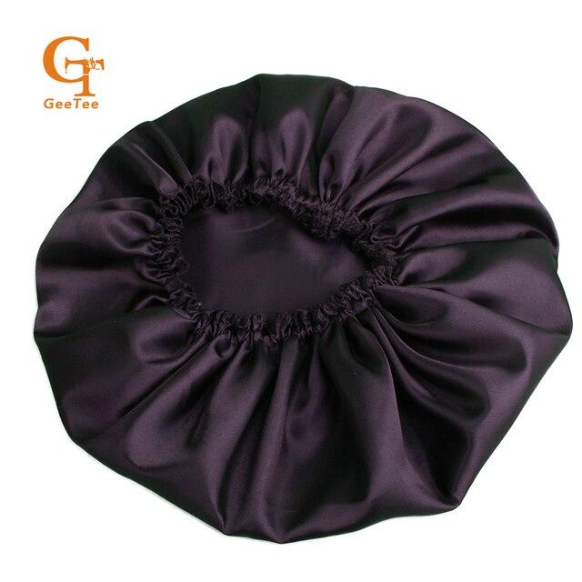1pcs Black Human Virgin Hair Extensions Bundles Sleep Bonnet Hair