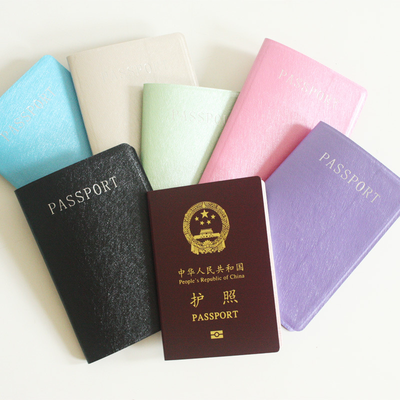 Protector Business Card Cover Case Travel Men Leather PU Passport Cover Holder