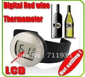EMS 12 шт. ЖК-дисплей Цифровой красное вино термометр бутылки вина Часы
