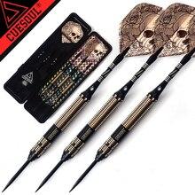 New CUESOUL 23g 25g 27g Professional Steel Tip Darts Black Dart Body With Dart Flights