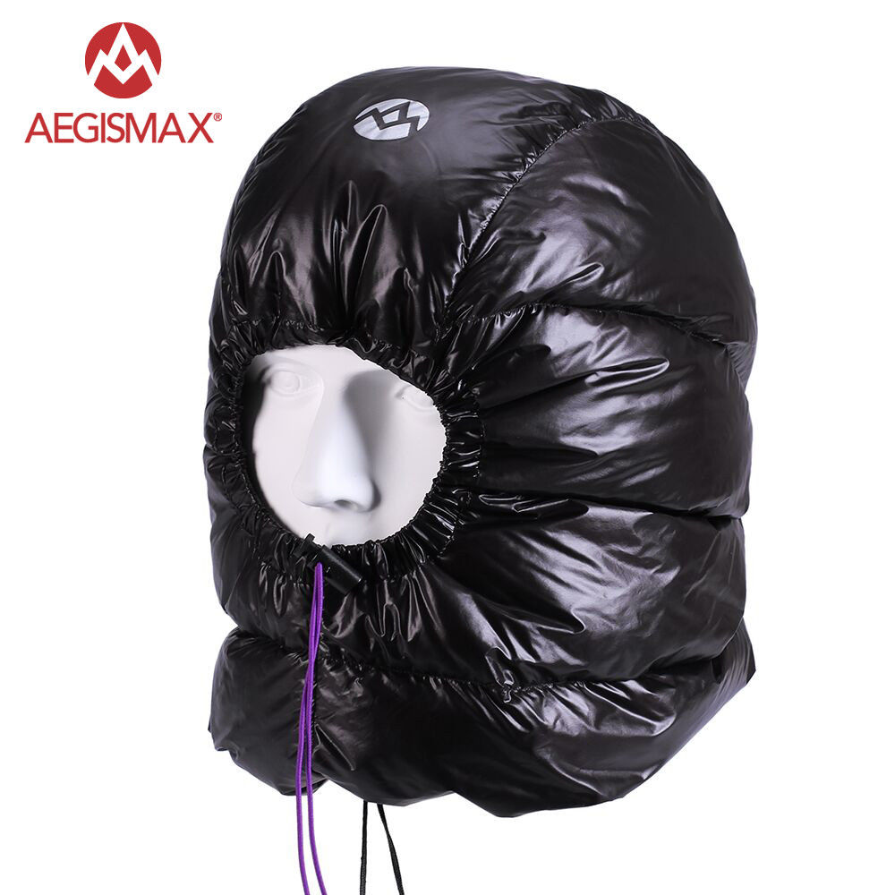 AEGISMAX Winter Outdoor Goose Down Hat Cap Beanie Ski Balaclava Face Cover Mask Camping Hiking Cycling unisex octopus winter warm knitted wool ski face mask knit hat squid cap beanie