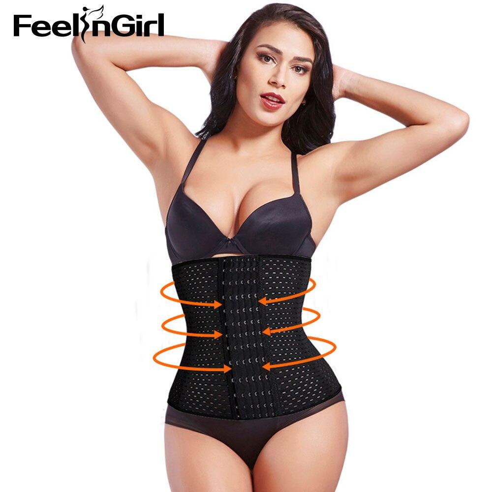 Plus 6 Hooks Womens Waist Trainer Slimming Workout Corsets Body Shaper Weight Loss Waist Trainer Corset -B