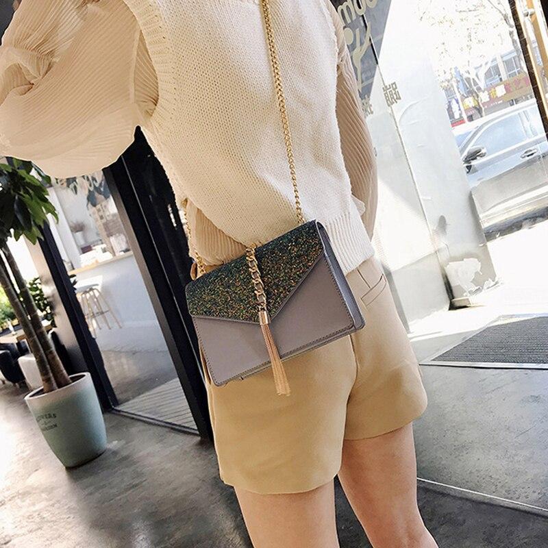 das Mulheres Tassel Cadeia Shoulder Bag Crossbody WB949