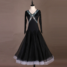 Ballroom Dance Dress Ladys Elegant Long Sleeve Waltz Tango Costume Women Competition Dancing Dresses