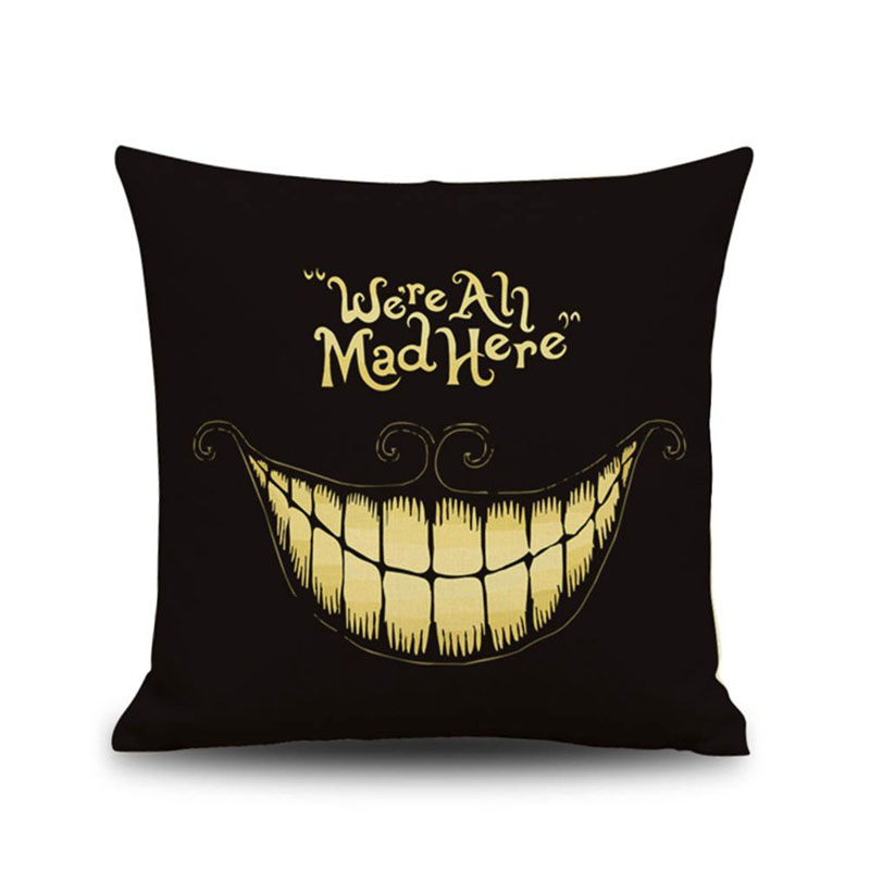 Halloween Cushion Cover Pillowcase Cotton Linen Printed Throw Pillows Decorative for Home Bed Car FashionMove